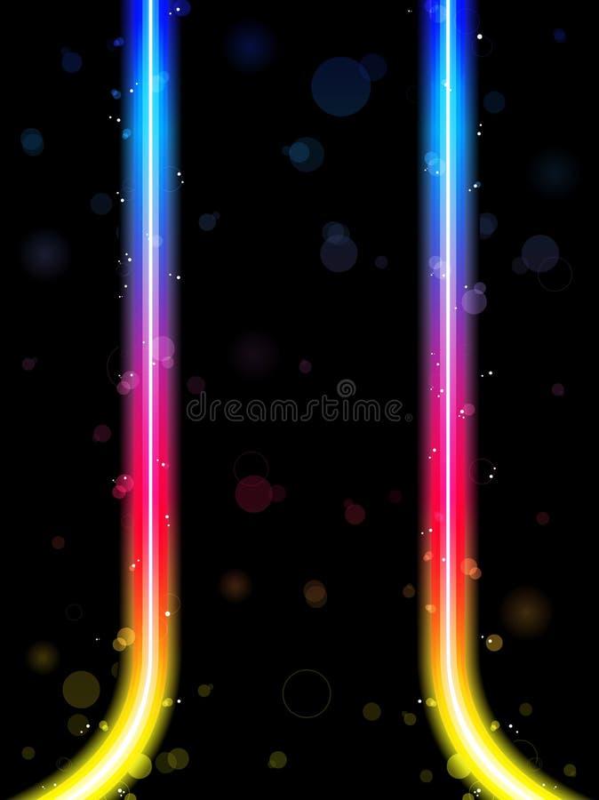 Righe bordo del Rainbow con le scintille royalty illustrazione gratis