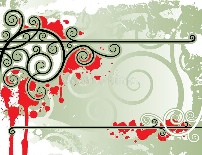 Righe floreali illustrazione vettoriale
