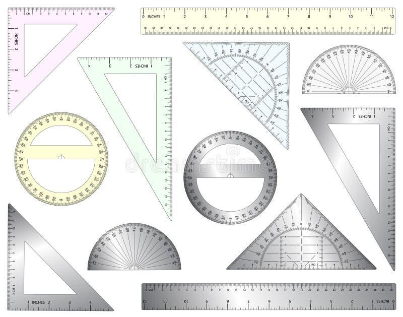 Righelli illustrazione vettoriale