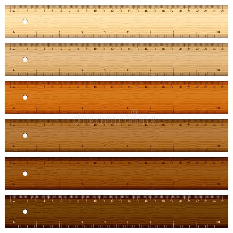 Righello di legno illustrazione vettoriale