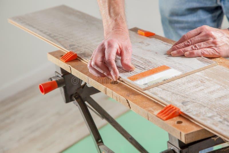 Righello di legno immagine stock