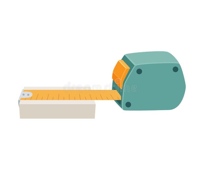 Righello di misurazione del nastro illustrazione vettoriale