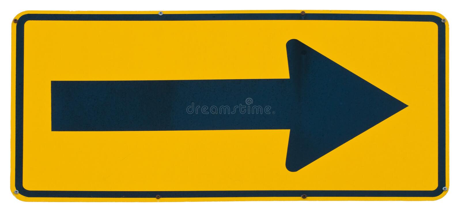 Download Right Arrow stock photo. Image of metal, road, right - 11096860