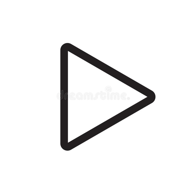 Right arrow play button icon vector sign and symbol isolated on royalty free illustration