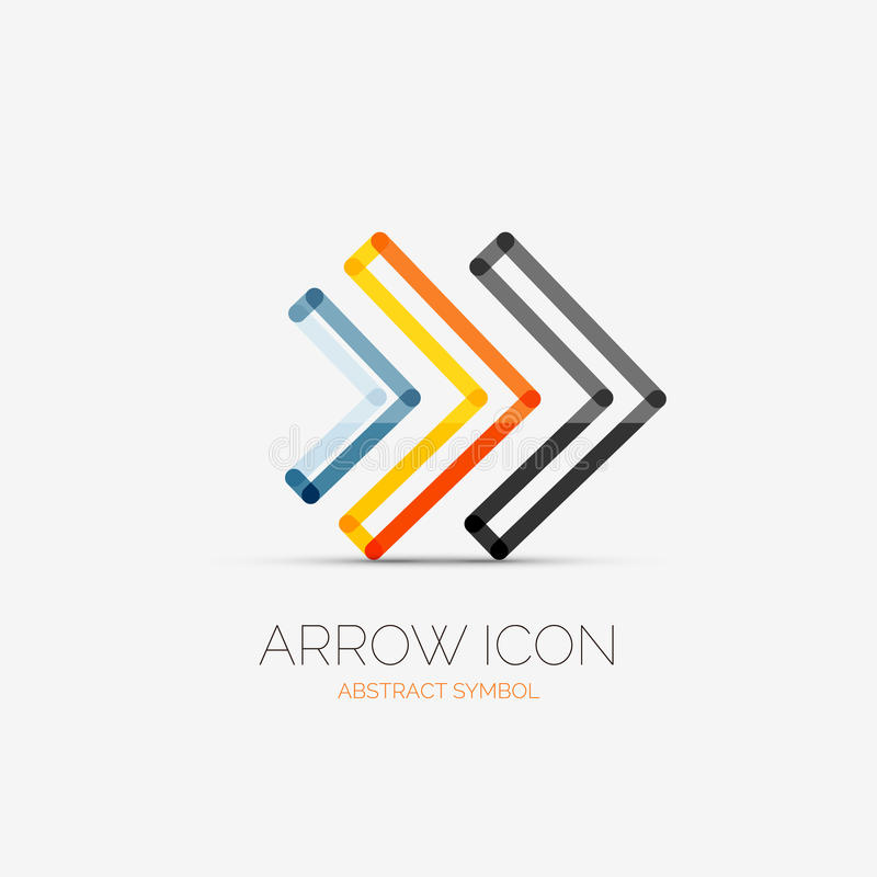 Right arrows company logo, business concept royalty free illustration