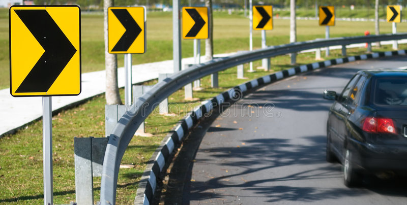 Right Bend in Road stock photo