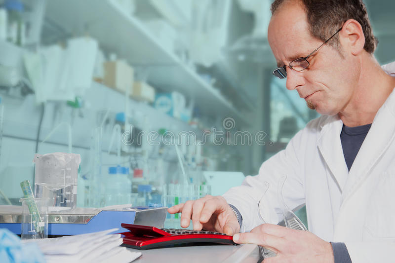 The right chemical mixture ratio royalty free stock images