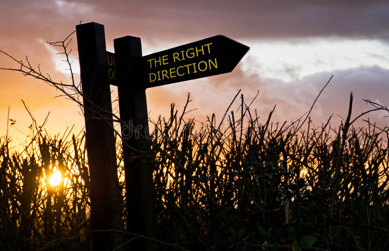 Download Right Direction Sign stock image. Image of pathway, footpath - 23051661