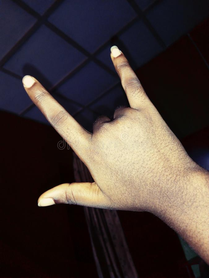 Hand Gesture royalty free stock photography