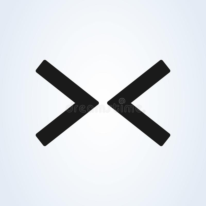 Right Left επίπεδο εικονίδιο βελών Ιστού στο άσπρο υπόβαθρο ελεύθερη απεικόνιση δικαιώματος