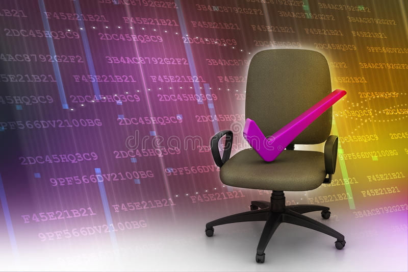 Right Mark Sitting Comfortable Computer Chair Stock Illustration