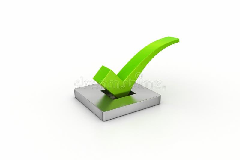 Right mark in white background. Vote concept stock illustration