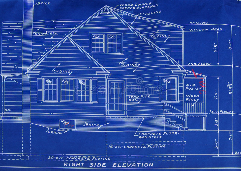 Download Right side elevation stock image. Image of dream, building - 836251