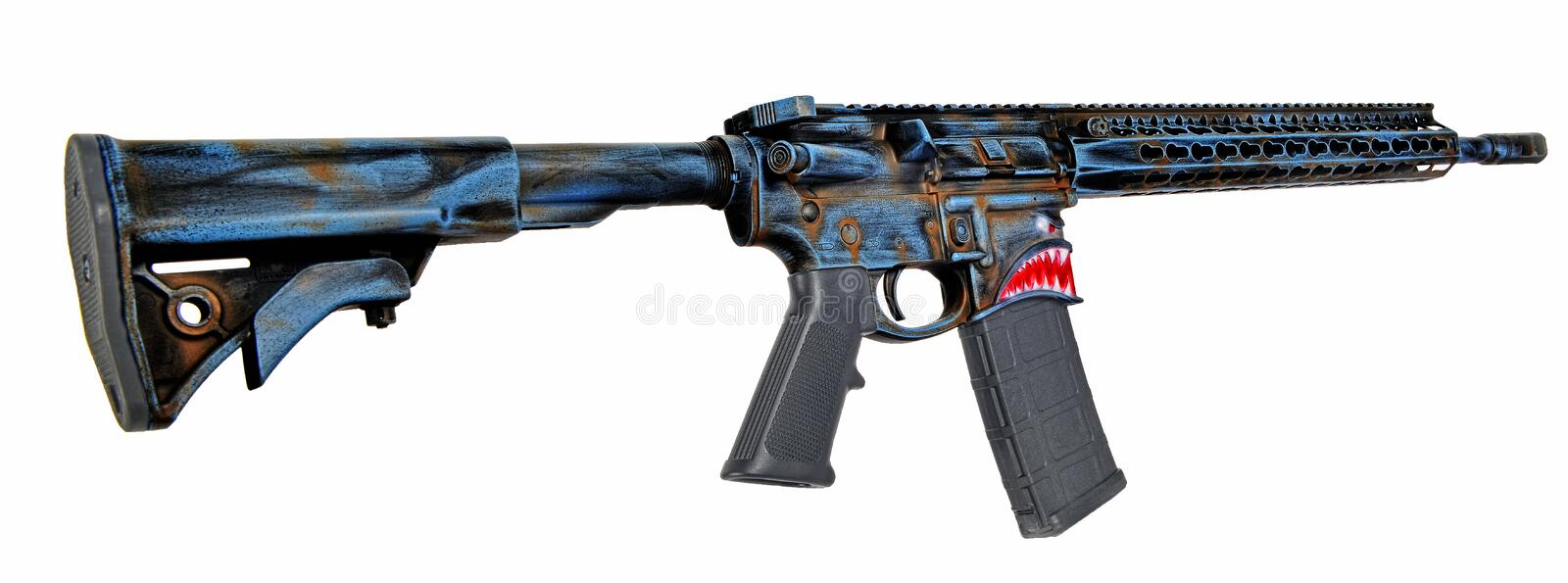 Right side of Hellbreaker by Sharps Bros and Spikes Tactical HDR stock images
