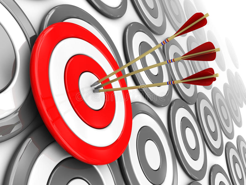 Right Target Royalty Free Stock Photos