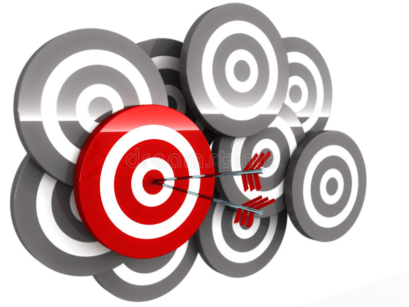 Right Target Royalty Free Stock Images