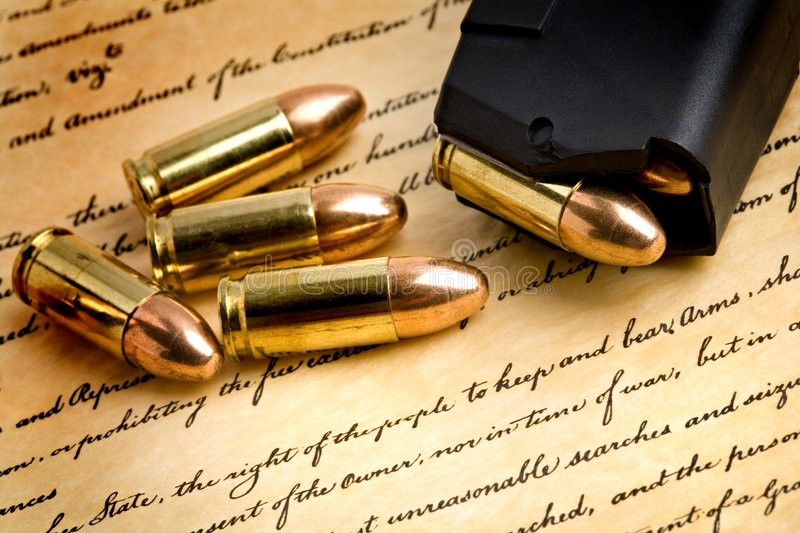 Right to bear arms stock photography