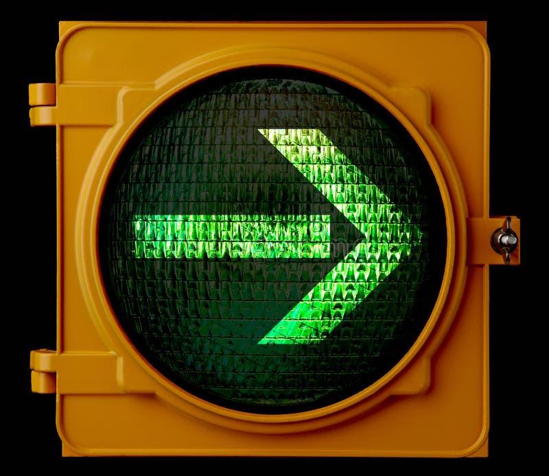 Right turn traffic light arrow royalty free stock photo