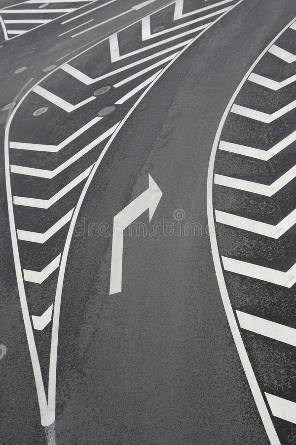 Right turn traffic signs royalty free stock photography
