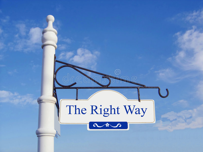 Download The Right Way stock image. Image of sign, decision, prediction - 3841127