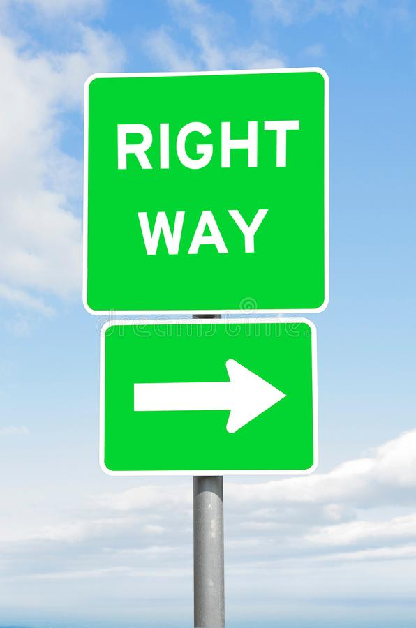Download Right Way Direction Signpost Sky Stock Photo - Image of message, right: 109528928