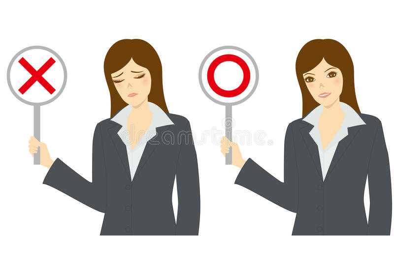 Right or wrong vector illustration