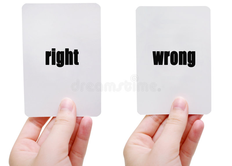 Download Right/Wrong Royalty Free Stock Images - Image: 940779