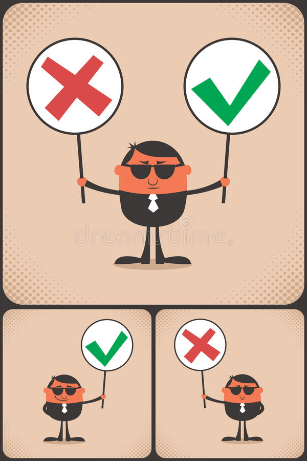 Download Right and Wrong stock vector. Image of person, business - 33696968