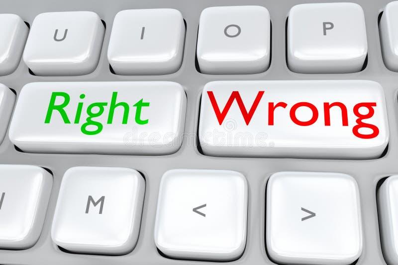 Right/Wrong concept stock photos