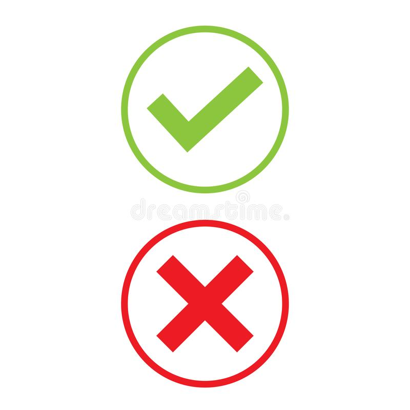 Right and Wrong icon stock photography