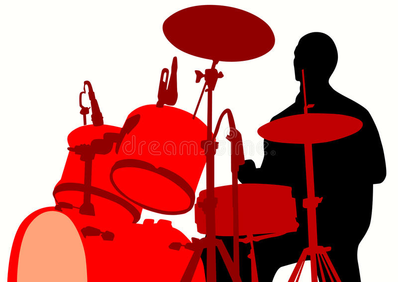 Download Rights for the drum set stock vector. Image of male, outline - 11867245
