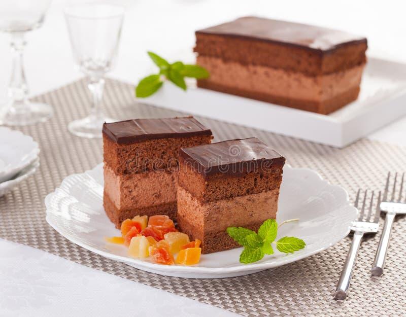Rigo Jancsi蛋糕 免版税图库摄影