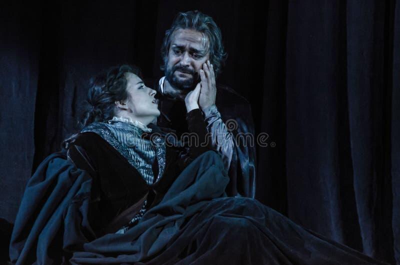 Rigoletto-Oper stockbild