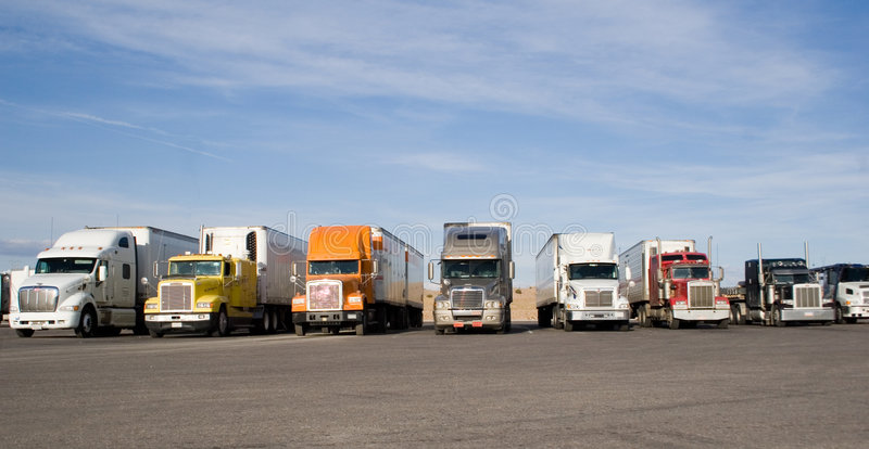Download Rigs in a row stock image. Image of hauling, diesel, blacktop - 698409