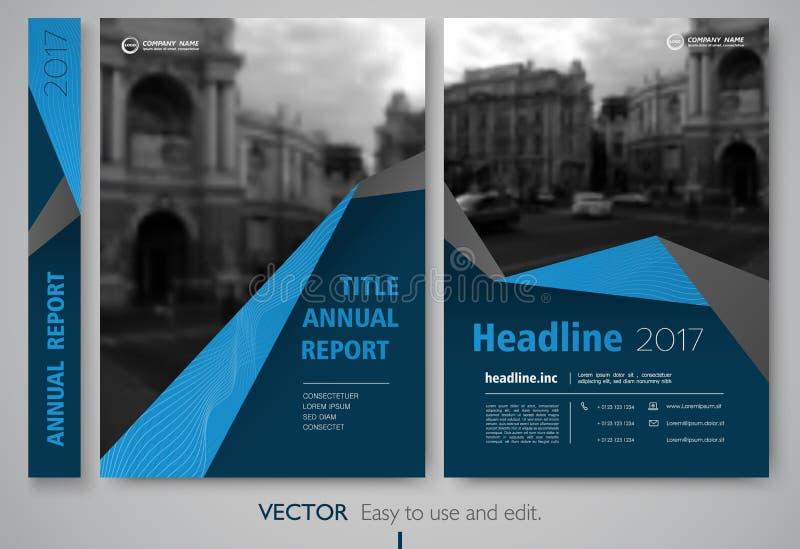 Riguardi il rapporto annnual di progettazione, l'aletta di filatoio, la presentazione, opuscolo illustrazione di stock