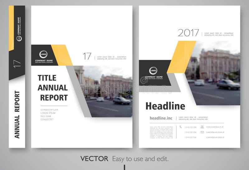 Riguardi il rapporto annnual di progettazione, l'aletta di filatoio, la presentazione, opuscolo royalty illustrazione gratis