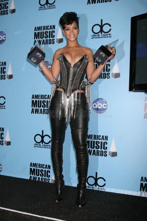 Rihanna. In the Press Room of the American Music Awards 2008 at the Nokia Theater in Los Angeles, CA.November 23, 2008.2008 Kathy Hutchins / Hutchins Photo royalty free stock photo