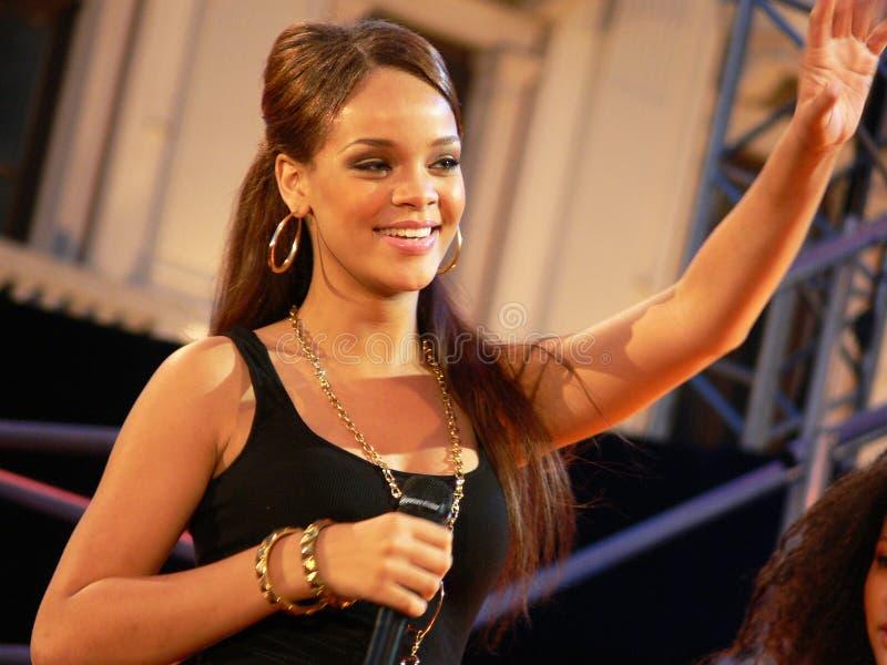Rihanna på hennes början royaltyfri fotografi