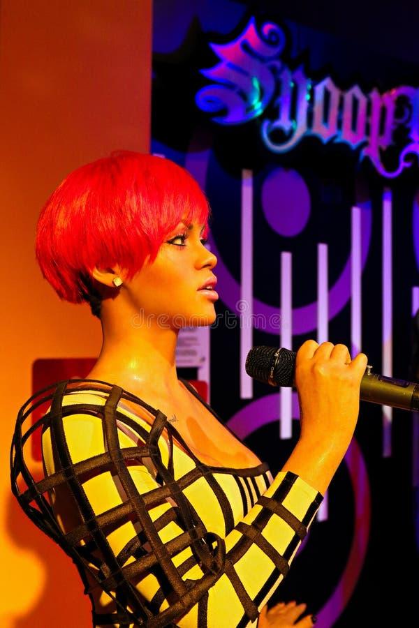 Rihanna, US - Sängerin, Wachsmuseum Madame Tussauds stockfoto