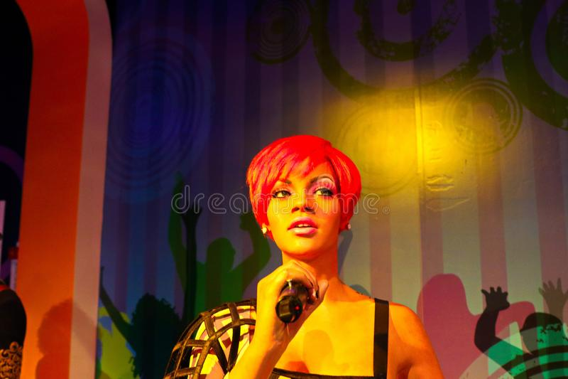 Rihanna, US - Sängerin, Wachsmuseum Madame Tussauds stockfotos