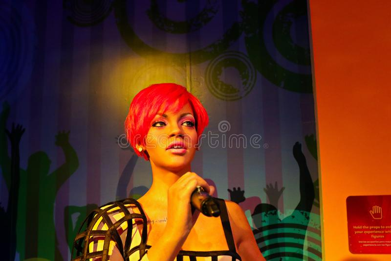 Rihanna, US - Sängerin, Wachsmuseum Madame Tussauds lizenzfreies stockbild