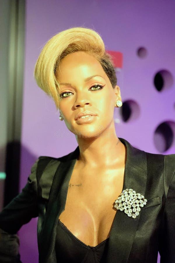 Rihanna vaxdiagram royaltyfria foton