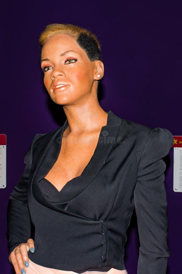 Rihanna vaxdiagram, museum för madam Tussauds, Wien arkivfoto