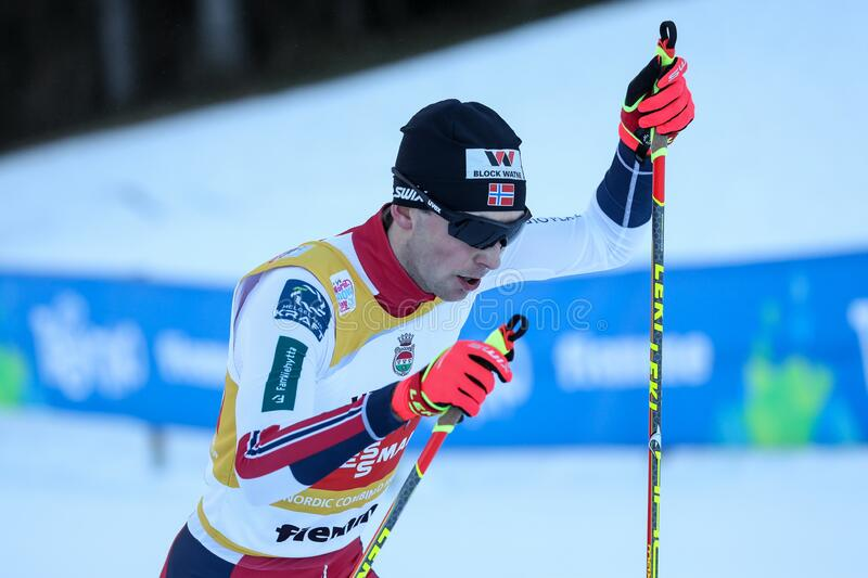 Nordic Ski FIS World Cup - Nordic Combined royalty free stock photos