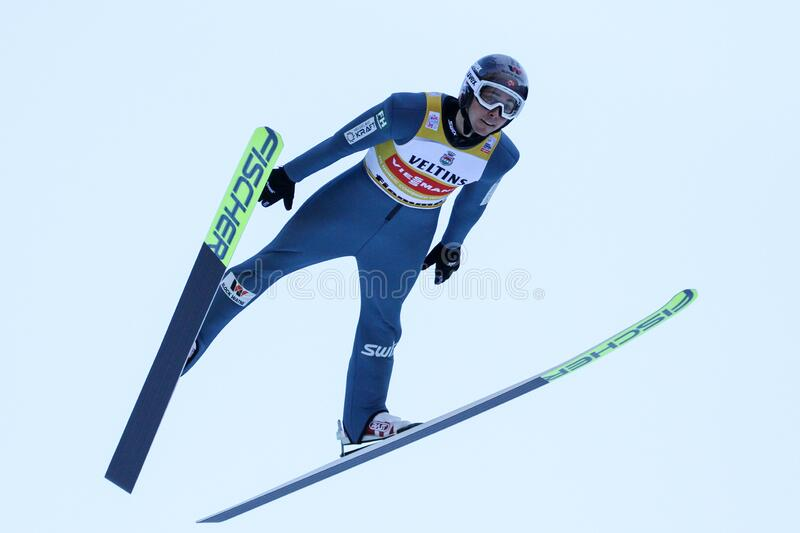 Nordic Ski FIS World Cup - Nordic Combined royalty free stock photo