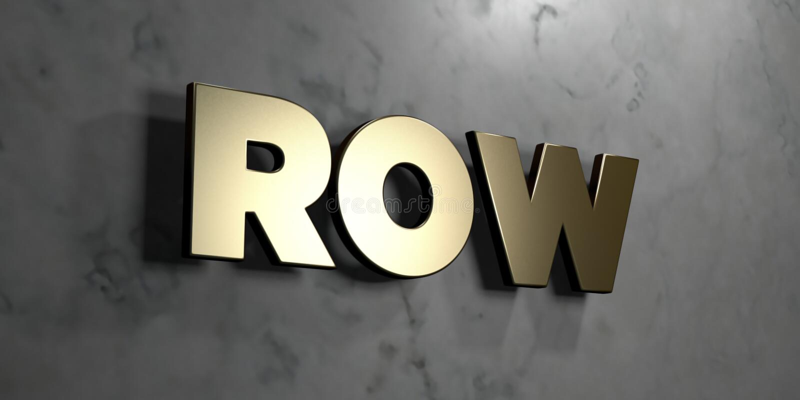 Rij - Gouden teken opgezet op glanzende marmeren muur - 3D teruggegeven royalty vrije voorraadillustratie royalty-vrije illustratie