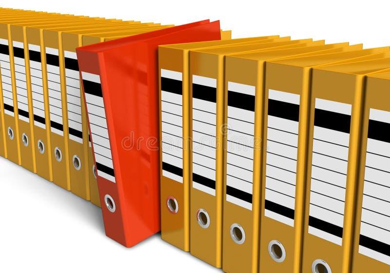 Rij van bureauomslagen vector illustratie