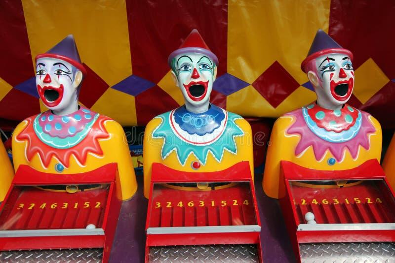 Rij van Carnaval clowns stock fotografie