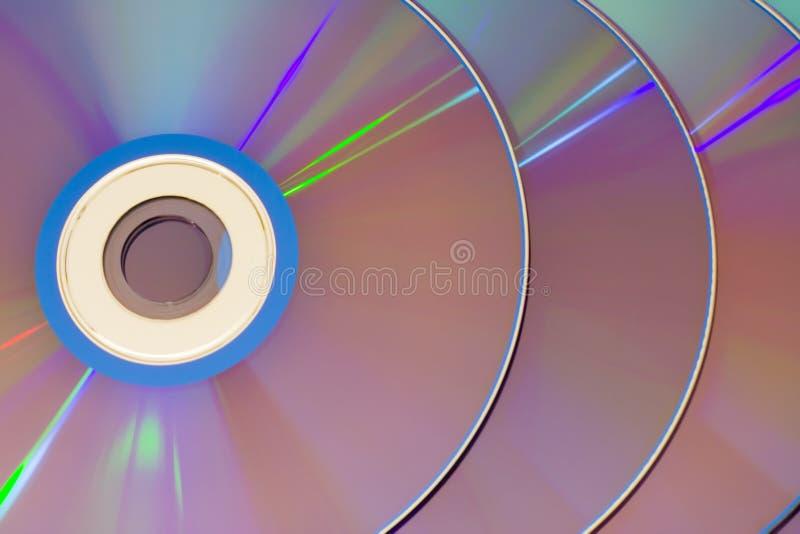Rij van CDs het overlappen royalty-vrije stock afbeeldingen