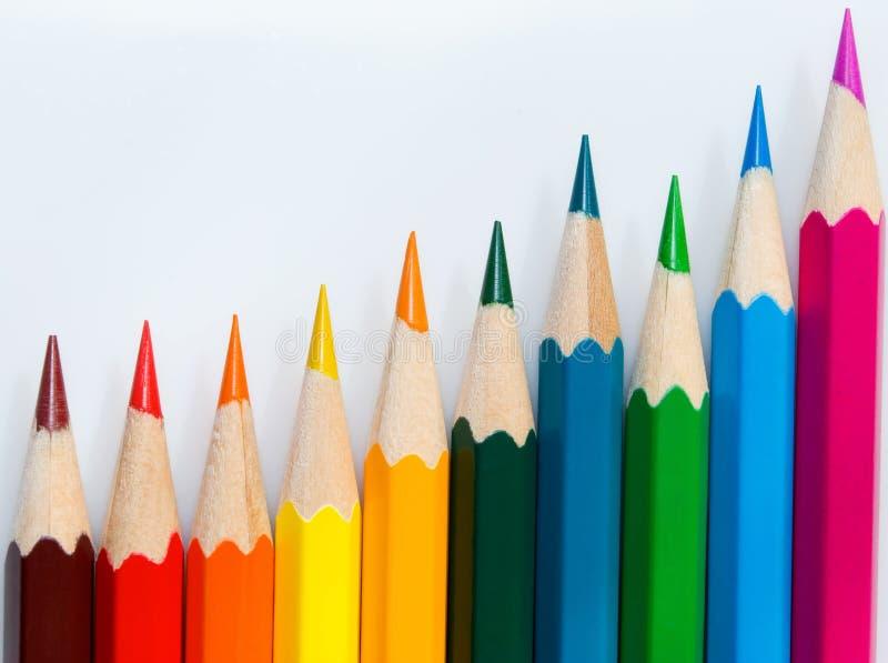 Rij van de diverse kleur. stock foto